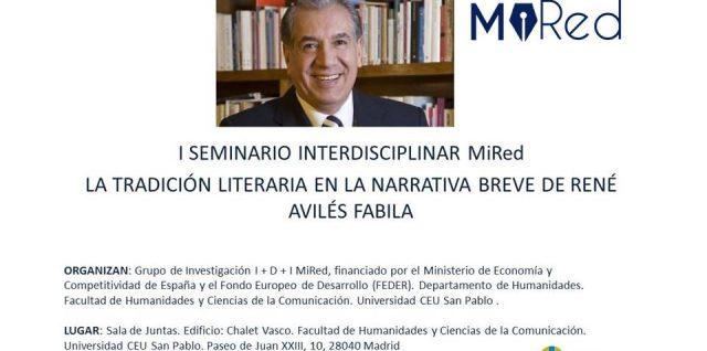 SEMINARIO INTERDISCIPLINAR: La tradición literaria en la narrativa breve de René AvilésFavila