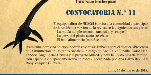 CONVOCATORIA PLESIOSAURIO Nº 11