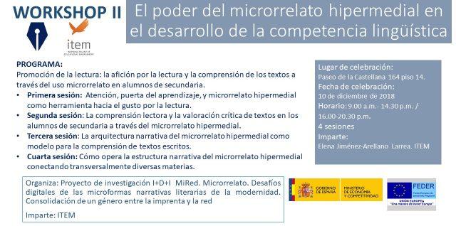 Workshop II. El poder del microrrelato hipermedial en el desarrollo de la competencia lingüística