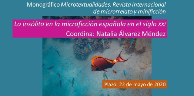 Call for papers Microtextualidades: Lo insólito en la microficción española en el siglo XXI